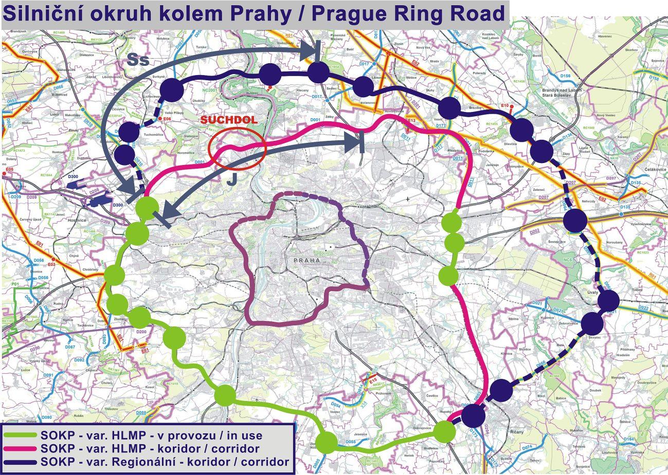 Silnicni Okruh Kolem Prahy Mestska Cast Praha Suchdol