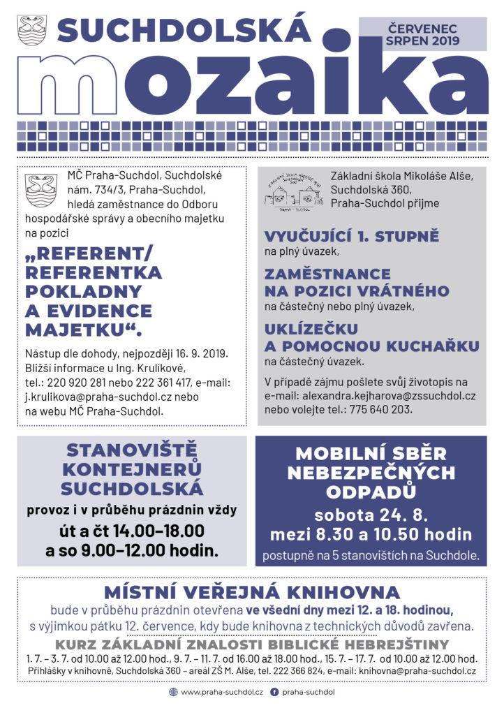 Suchdolská mozaika 07+08/2019