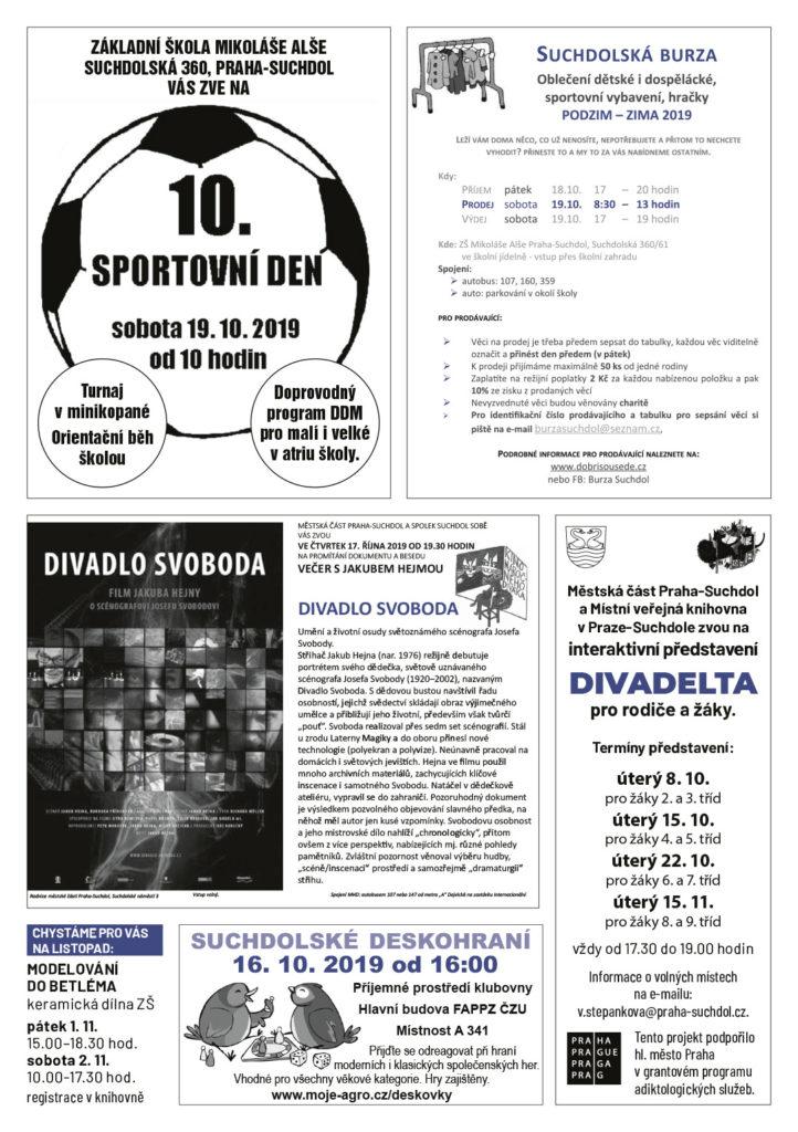 Suchdolská mozaika 10/2019