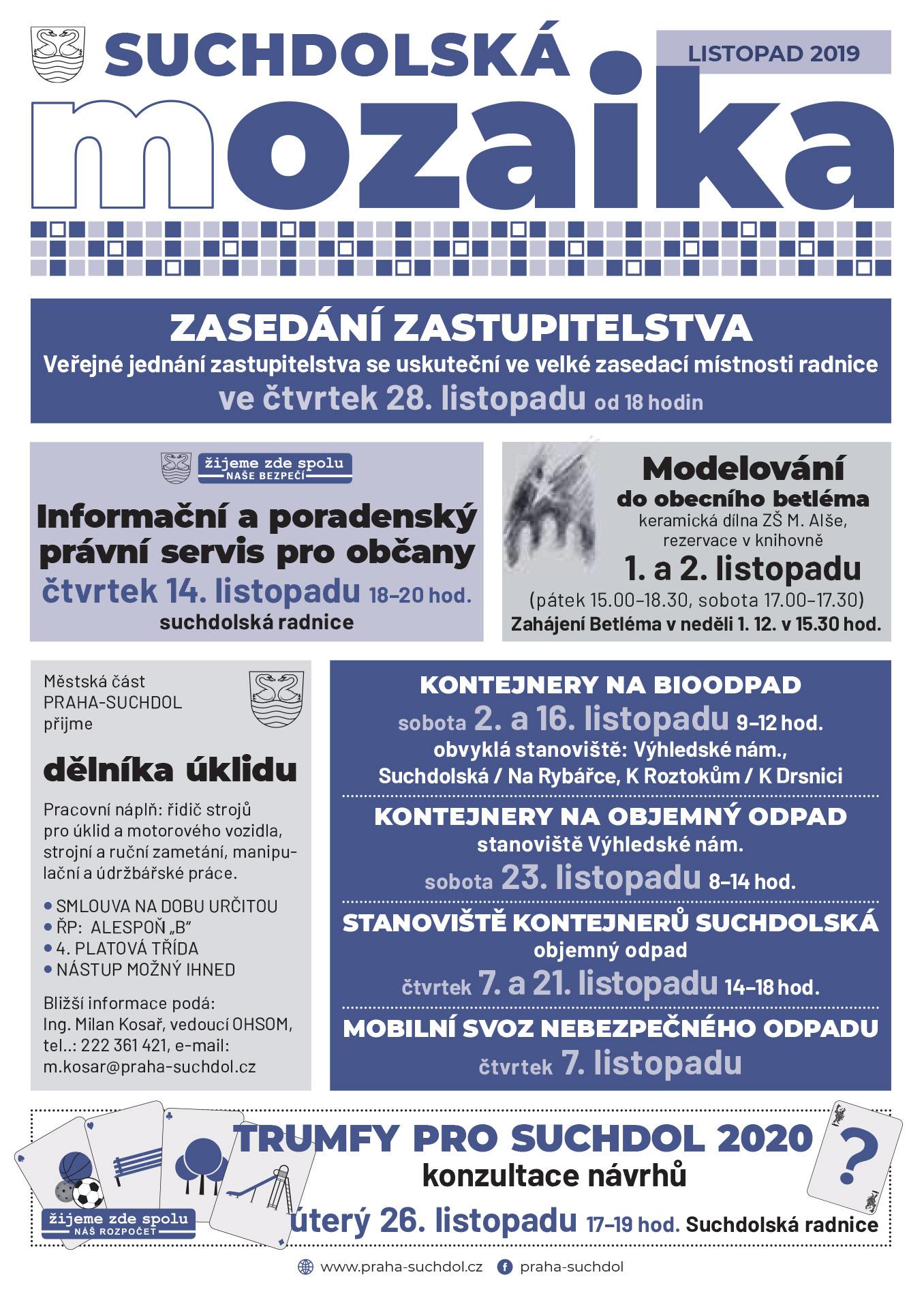Suchdolská mozaika 11/2019