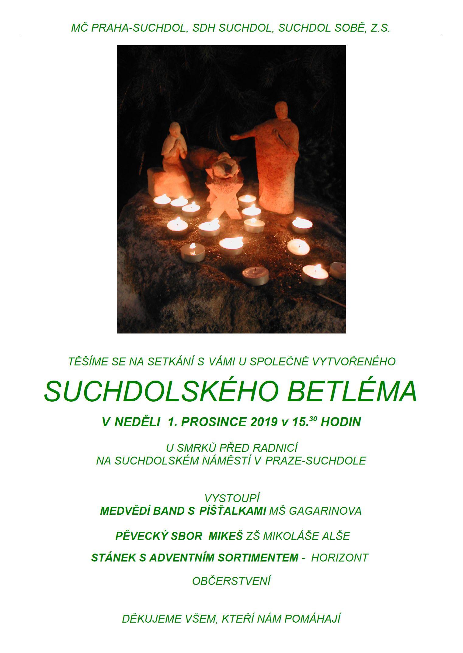 Slavnostní zahájení obecního betléma