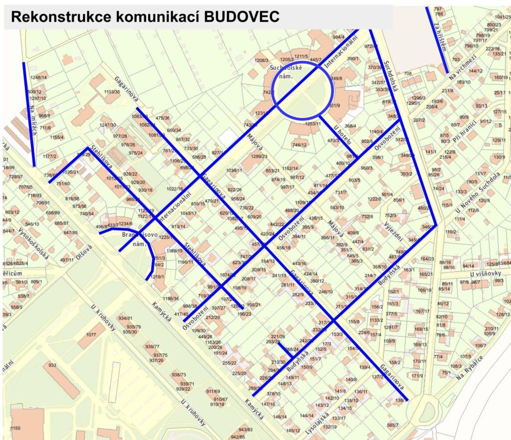 Zakázka – projektová dokumentace na rekonstrukci komunikací na Budovci