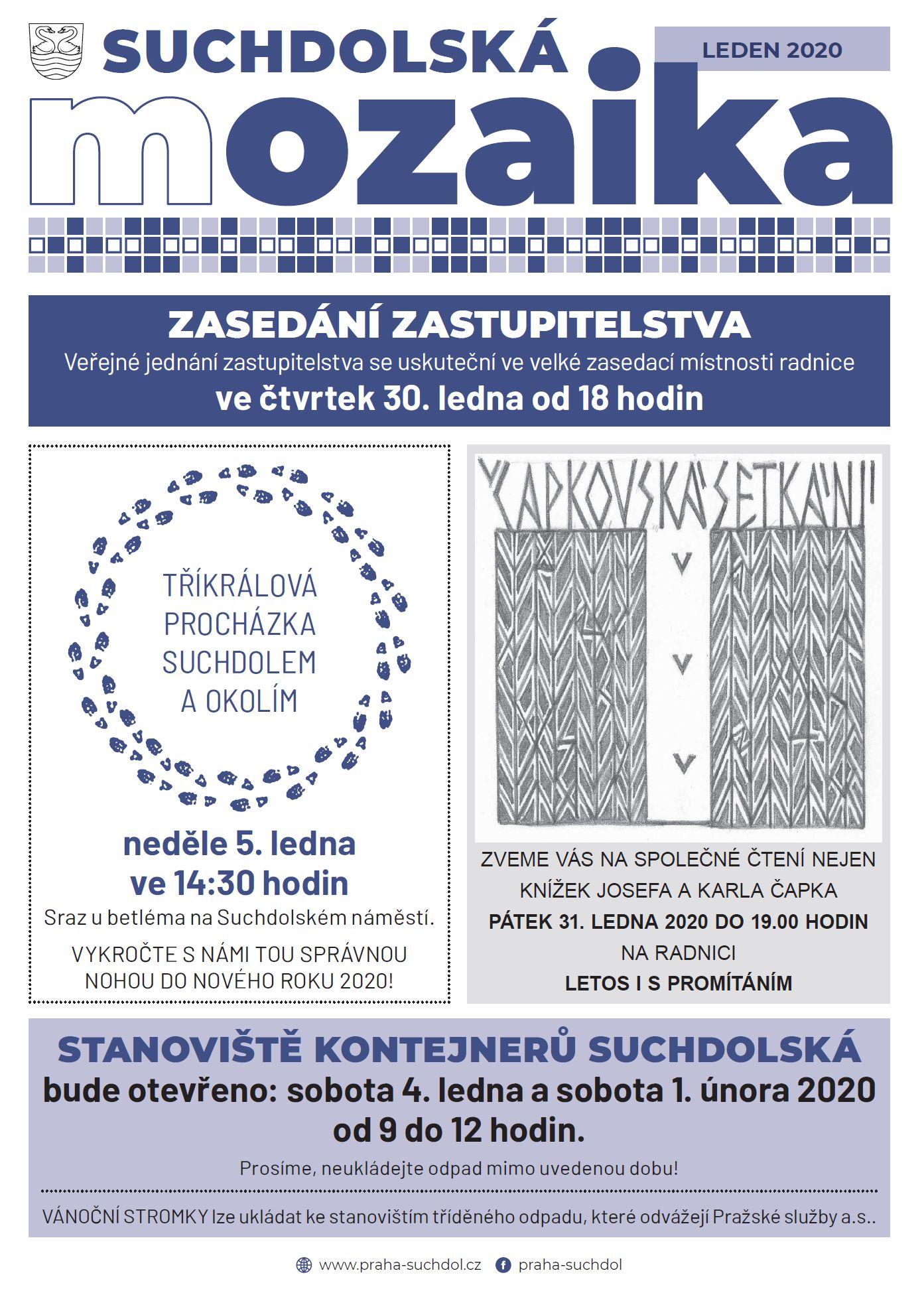 Suchdolská mozaika 1/2020