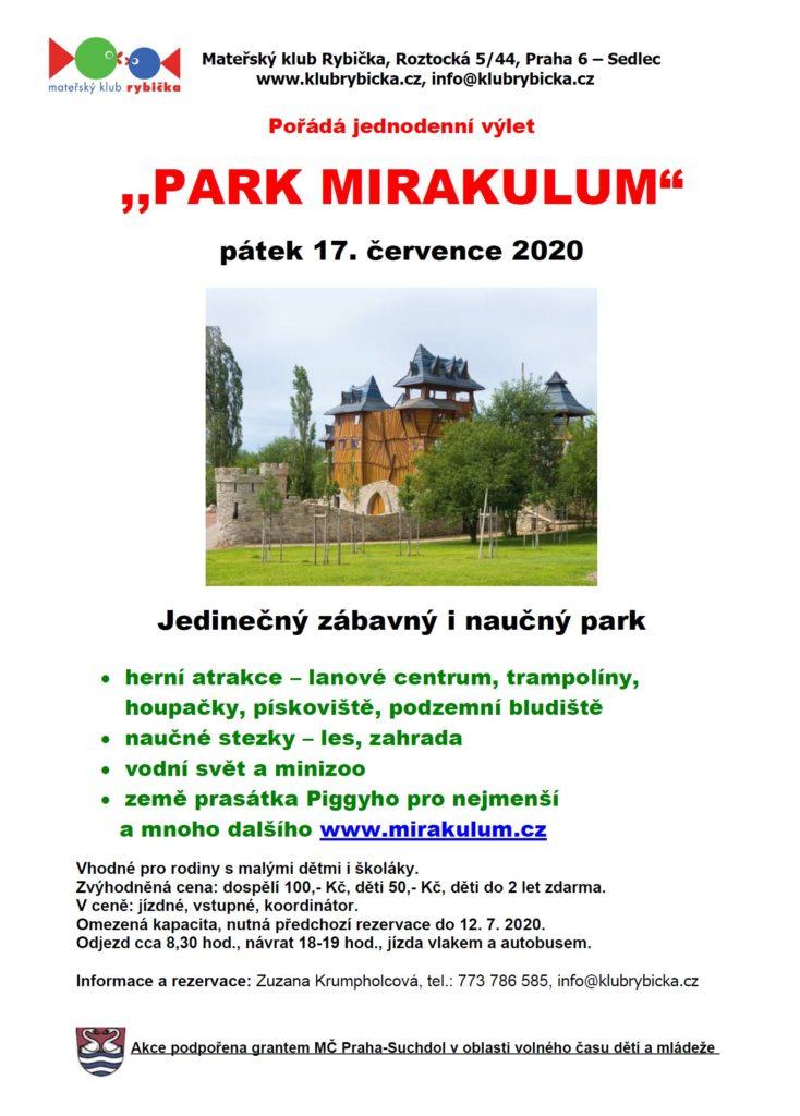 Celodenní výlet do parku MIRAKULUM
