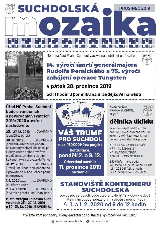 Suchdolská mozaika 12/2019
