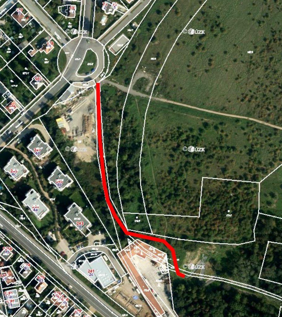 Stezka pro chodce acyklisty Suchdolská – VSedlci