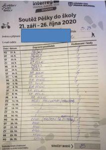 """Soutěž """"PĚŠKY DO ŠKOLY"""" 2020"""