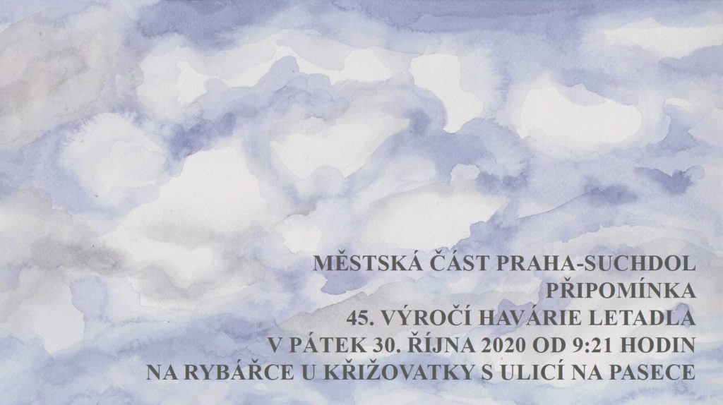45 let od havárie jugoslávského letadla na Suchdole