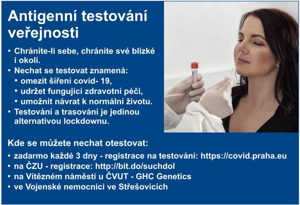 Antigenní testování – zdarma