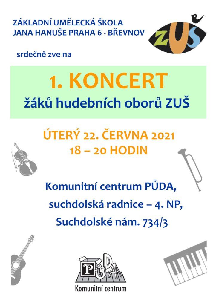 Koncert žáků ZUŠ Jana Hanuše zBřevnova